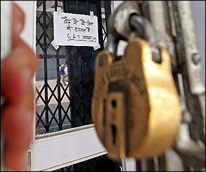 Bank closed_strike