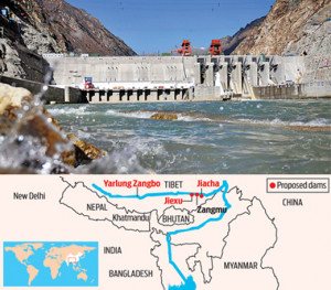 Jangmu power project of china on-brahmaputra
