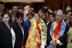 Nepals newly elected President Vidya Devi Bhandari