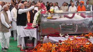ashok-singhal antya darshan by modi