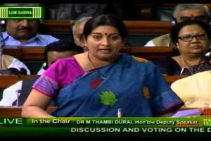Smriti Irani Speech in Lok Sabha